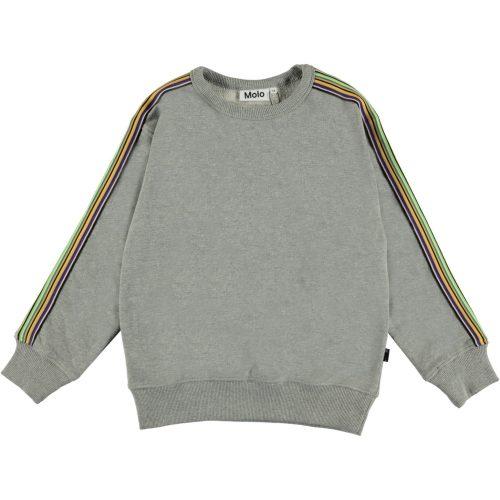 grijze sweater jongen Molo Mik grey melange