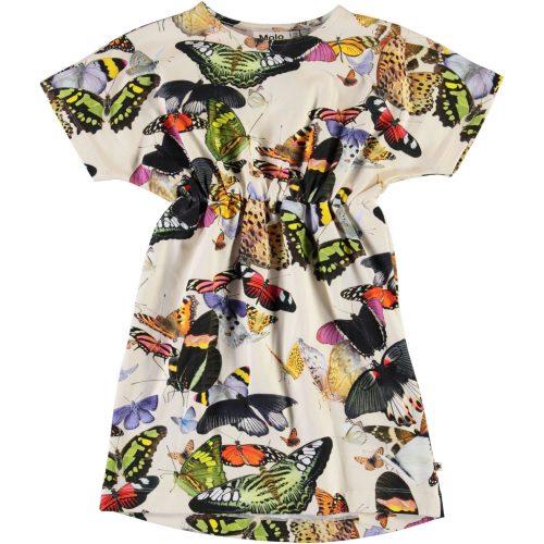 veelkleurig jurk meisje Molo Christa vlinder