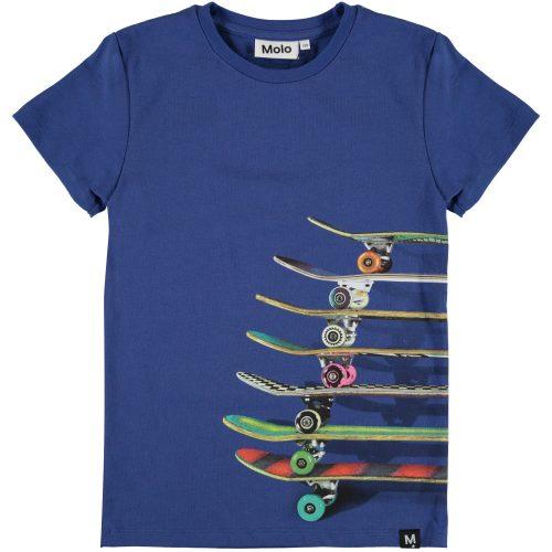 T-shirt Molo jongen blauw skateboards