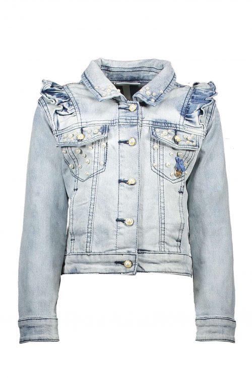 Jeans jas Le Chic meisje blauw