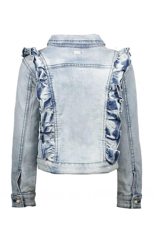 jeansjas Le Chic meisje blauw