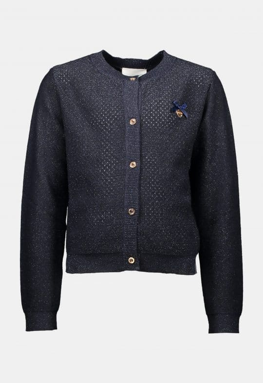 Cardigan 'Heart at Back Blue Navy' Le Chic