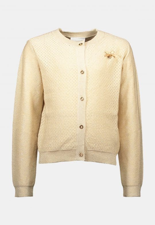 Cardigan 'Heart at Back Gold' Le Chic