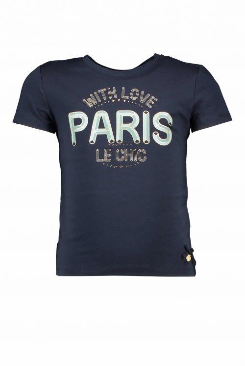 T-shirt Le Chic meisje blauw