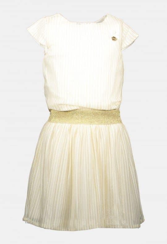 Jurk 'Vertical Golden Stripe' Le Chic