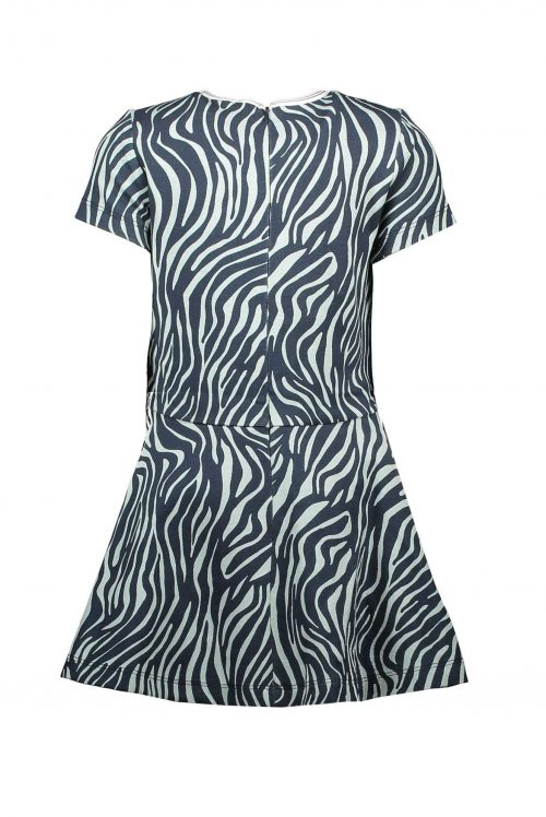 Jurk Le Chic meisje blauw zebra