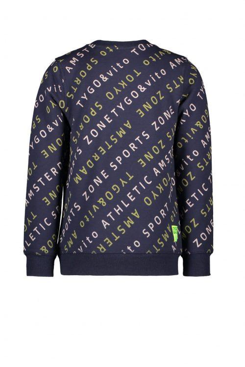 sweater tygo en vito blauw jongen