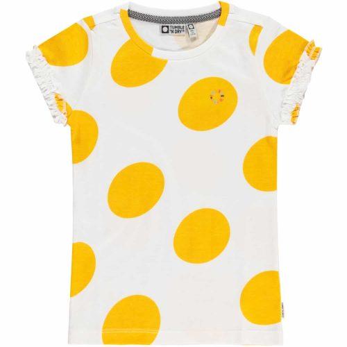 T-shirt Tumble 'n Dry meisjes geel wit