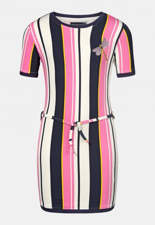 Jurkje 'Romy Pink Stripe' Chaos and Order