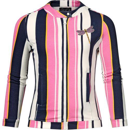 Vest gilet chaos and order meisje roze wit blauw