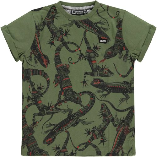 T-shirt Tumble 'n Dry jongen groen gekko