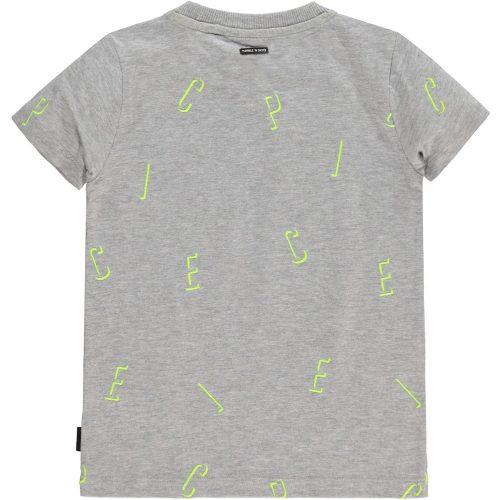 T-shirt Tumble 'n Dry jongen grijs fluo geel