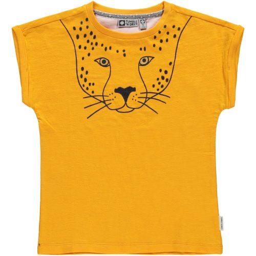 T-shirt Tumble 'n Dry meisje geel luipaard