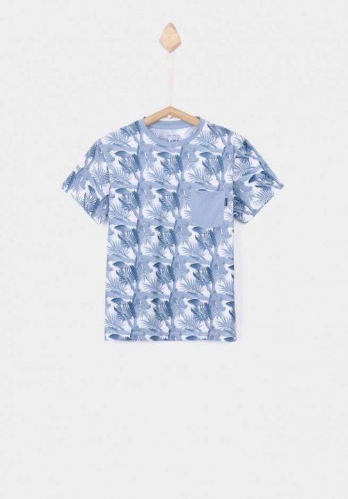 T-shirt Tiffosi jongen blauw wit
