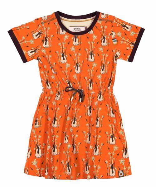 Jurk 4Funkyflavours meisje oranje bruin