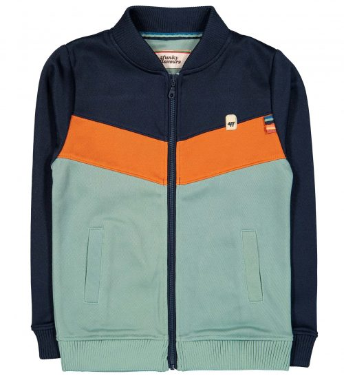 Vest gilet 4funkyflavours jongen blauw oranje