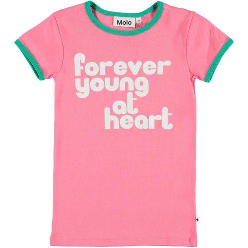 T-shirt Molo meisje roze groen