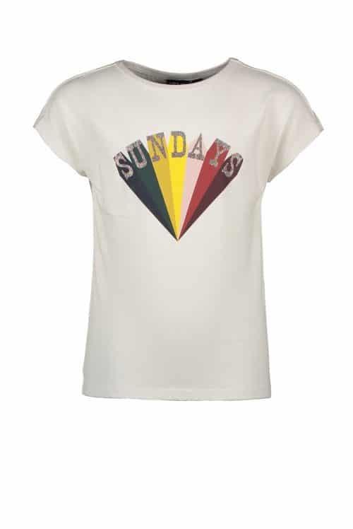 T-shirt Like flo meisje off-white wit