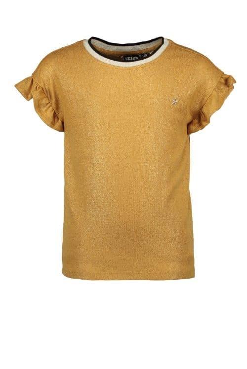 Top t-shirt Like Flo meisje oker geel
