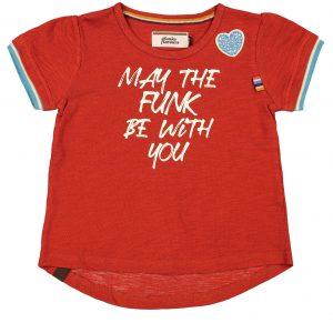 T-shirt 4funkyflavours meisje rood wit