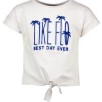 T-shirt Like FLO meisje wit blauw