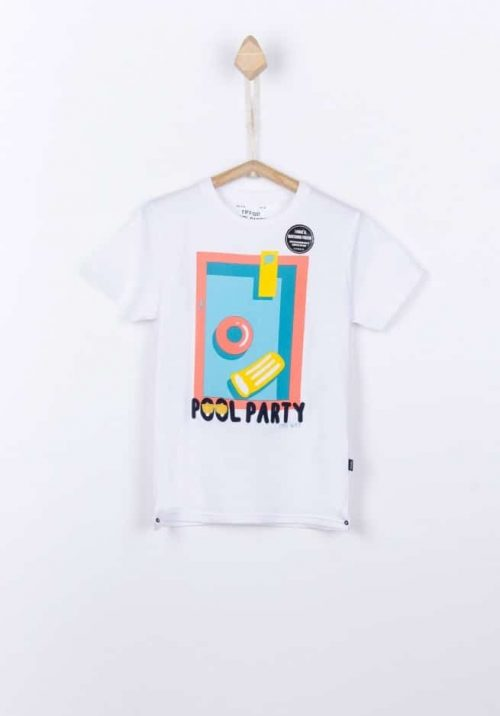 T-shirt Tiffosi jongen wit blauw geel
