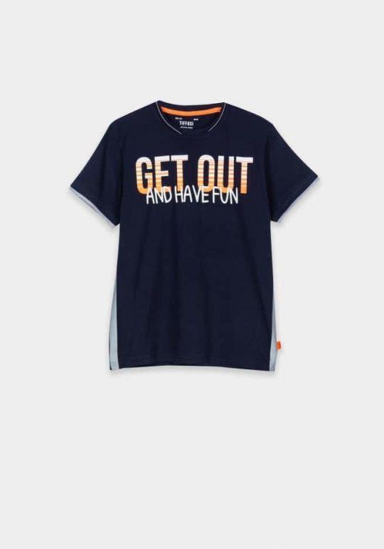 T-shirt Tiffosi jongen blauw oranje