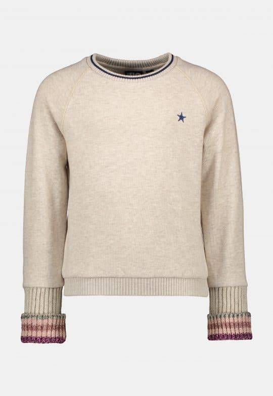 Loose fit sweater met metallic glitter Like Flo